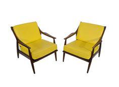 Lounge Chairs Walnut Danish Modern Mid Century Modern