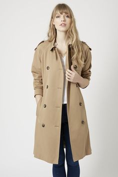 Pin for Later: Dig Out the Most Stylish Spring Trench Coats Topshop Women's Cotton Trench Coat Camel Topshop Women's Cotton Trench Coat Camel (£79) #RaincoatsForWomenCotton