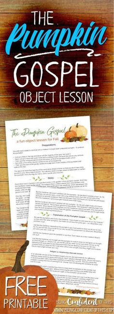 Our kids LOVED this! Would also be great for Sunday School, Children's Church, AWANA, youth group, etc. Grow your child's faith this Fall season with the pumpkin gospel objectlesson forkids 305048574758110393 Youth Group Lessons, Lessons For Kids, Youth Groups, Children Church Lessons, Primary Lessons, School Children, Christian Halloween, Bible Object Lessons, Childrens Sermons