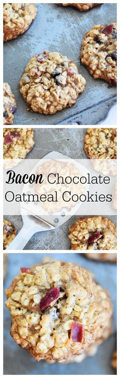 Bacon Chocolate Oatmeal Cookies are so yummy and easy! Perfect for back to school breakfast! Be sure to PIN this recipe today! #ad #BRMOats @bobsredmill