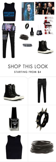 """""""Larissa Joins The Shield"""" by ashleighreigns156 ❤ liked on Polyvore featuring Converse, Allegra K, Rimmel and T By Alexander Wang"""