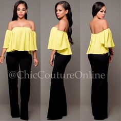 "Outfit Of The Day www.ChicCoutureOnline.com Search: ""Aurelie"" top ~ ""Canalie"" pants  #fashion #style #stylish #love #ootd #me #cute #photooftheday #nails #hair #beauty #beautiful #instagood #instafashion #pretty #girly #pink #girl #girls #eyes #model #dress #skirt #shoes #heels #styles #outfit #purse #jewelry #shopping"