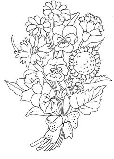 Flowers Coloring Pictures Printable - Flowers Coloring Pages : KidsDrawing – Free Coloring Pages Online