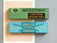 Vintage Box Pencils - love the packaging on these. #pencils