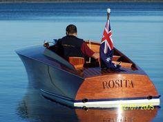 Cool classic wood boat