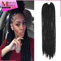"""14"""" 18""""  faux locs hairstyles crochet hair Braids dreadlocks&locs hairstyles Soft 2x Mambo Faux Locs synthetic Hair Extensions"""