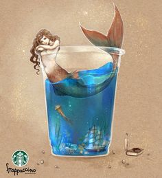 summer dream starbucks by jurithedreamer on DeviantArt
