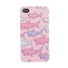 Pink Pastel Shark iPhone 4/4s Case