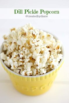 tangy and delicious this dill pickle seasoning will kick up your snacking in minutes. Dill Pickle Popcorn Seasoning Recipe, Homemade Popcorn Seasoning, Flavored Popcorn, Homemade Spices, Popcorn Recipes, Snack Recipes, Cooking Recipes, Kid Recipes, Candy Recipes