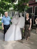 Life size wedding cutout for 50th anniversary party