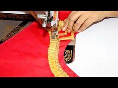 Blouse Neck Back Side Design Cutting and Stitching New Blouse Back Neck Designs, Bridal Blouse Designs, Saree Blouse Designs, Hand Embroidery Videos, Blouse Models, Neck Pattern, Model Photos, Stitching, Sewing