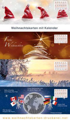 Weihnachtskarten mit ausbrechbarem Kalender für Firmen www.weihnachtskarten-druckerei.net