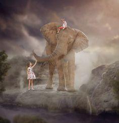Explore - Siblings composite elephant image