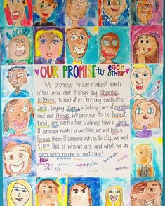 Classroom promise - We have completed one of my favorite lessons of the year! My students worked so hard to come up with this class promise We will refer to… Classroom Promise, Year 4 Classroom, 2nd Grade Classroom, Classroom Community, Primary Classroom, Classroom Organisation Primary, Art Classroom Rules, Teacher Organisation, Primary Teaching