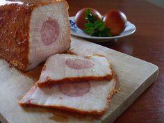 Pork loin stuffed with sausage ...