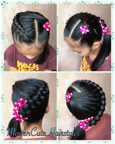 Box-Braided Bun - Braids with Beads: Hairstyles for a Beautiful and Authentic Look - The Trending Hairstyle Curly Crochet Braids, Curly Hair Braids, Curly Hair Styles, Braid Hair, Cornrows With Beads, Under Braids, Ariel Hair, Braid Accessories, Different Braids