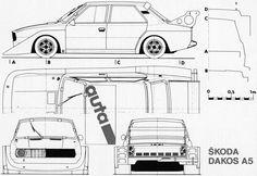 Skoda_Dakos A5_1979 Sport Cars, Race Cars, Car Illustration, Cars And Motorcycles, Transportation, Garage, Floor Plans, Sketches, Trucks