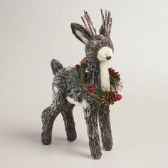 One of my favorite discoveries at WorldMarket.com: Natural Fiber Fawn with Wreath
