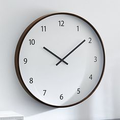 Sale ends soon. A recessed face floats within a wrap of warm-toned wood in this oversized clock. Great for family rooms or kitchens, its casual look features large, easy-to-read numbers and clean-lined hands. Crate And Barrel, Oversized Clocks, Kitchen Wall Clocks, Clock Wall, Kitchen Nook, Wall Art, Kitchen Ideas, Kitchen Design, Family Room Design