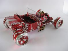 Car Models Out Of Beer Cans  - Yes Please