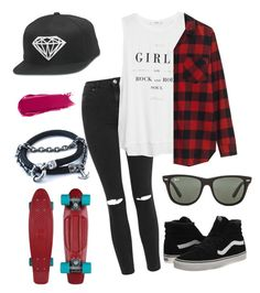 """""""Girls. :)"""" by eemaj ❤ liked on Polyvore featuring Anchor & Crew, Topshop, MANGO, Madewell, Vans, Ray-Ban, NARS Cosmetics, women's clothing, women's fashion and women"""