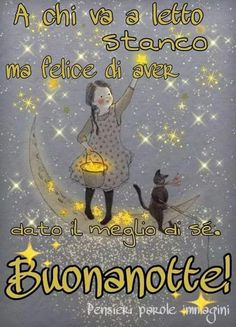 Sogni belli a tutti☄ Good Night Wishes, Good Morning Good Night, Day For Night, Good Morning Quotes, Learning Italian, Emoticon, Good Mood, Animation, Humor