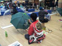 駅に忘れられた傘をペイントして再利用!JR東日本☓東京芸大生の「JOBANアートアンブレラ」
