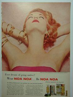 Jean Patchett , 1954 Helena Rubinstein perfume ad