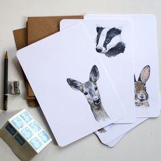 Briefpapier set (16-delig) | Forest animals