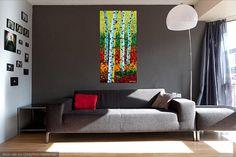 "Original Acrylic Painting | Original ARTWORK - Acrylic Artwork""The Golden Green"""
