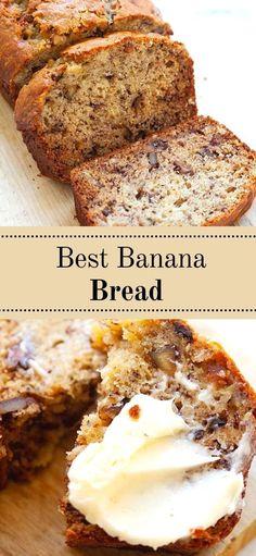 Homemade Banana Bread, Best Banana Bread, Banana Bread Recipes, Sweet Desserts, Delicious Desserts, Dessert Recipes, Best Sweets, Peanut Butter Chips, Ice Cream Recipes