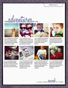 Hybrid scrapbook page with Instagram pics and template  89 by Cathy Zielske