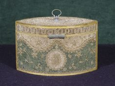 """c1790 A George III Rolled Paper Tea Caddy CIRCA 1790 Height: 5"""" Width: 7.5"""" Inventory Number 8099-597 PRICE$22,000"""