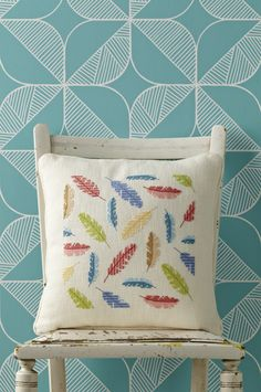 It's all about the chunky evenweave with Angela Poole's stylish cushion. Get the chart and instructions from our April 233 issue. http://www.myfavouritemagazines.co.uk/stitch-craft/cross-stitch-collection-magazine-back-issues/