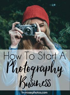 How to Start and Maintain a Photography Business. Tips from a mom who turned professional photographer.