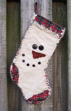Snowman Face Rag Quilt Stocking e pattern PDF digital pattern Unique Christmas Stockings, Christmas Stocking Pattern, Xmas Stockings, Christmas Sewing, Christmas Crafts, Christmas Ideas, Christmas Tree, Christmas Patterns, Snowman Crafts