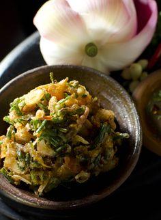 Crispy Spring Onion Fritter: http://gustotv.com/recipes/appetizer/crispy-spring-onion-fritter/