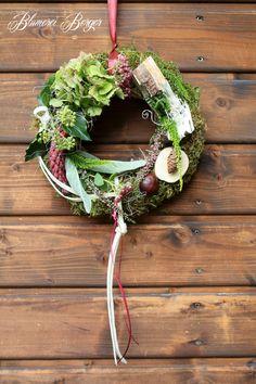 Türkränze - :::: Kleiner Herbstkranz :::: - ein Designerstück von BlumereiBerger bei DaWanda