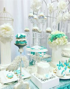 Angel / Heaven celestial Baby Shower Party Ideas | Photo 6 of 23