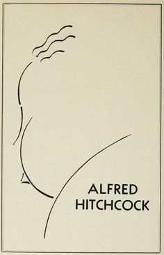 Alfred Hitchcock's famous signature outline