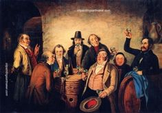 Cornelius Krieghoff The Winetasters (after Hasenclever), painting Authorized official website Alex Colville, Group Of Seven, Art Paintings For Sale, Swan Song, Cornelius, Canadian Artists, Singing, Old Things, Songs