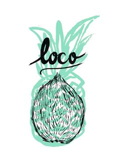 pinacolada pineapple and coconut print by vanillawolff Love Illustration, Graphic Design Illustration, Logo Rond, Design Art, Logo Design, Grafik Design, Andy Warhol, Design Reference, Identity Design