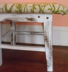 Shabby Chic Nature Look Entry Bench, Hallway, Foyer, Bedroom by BonsaiTreehouse on Etsy