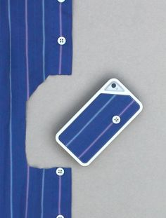 korean designer lee ji-hoon has designed 'case cord', an iPhone enclosure that utilizes old apparel as the backplate.