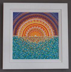 Moroccan Sunset Original Acrylic Dot by StripeyCatsStudio on Etsy