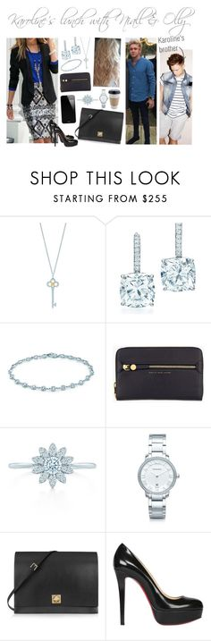 """""""Karoline's lunch with Niall & Olly"""" by karolinebhn ❤ liked on Polyvore featuring Tiffany & Co., Elsa Peretti, Marc by Marc Jacobs, Valentino and Christian Louboutin"""