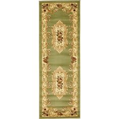 Traditional Versailles Green 2 ft. 2 in. x 6 ft. Area Rug