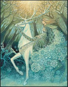The Snow Queen - Winter Solstice Goddess by Emily Balivet,