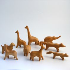 wood animals from twine