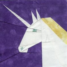 Unicorn Paper Pieced Block free pattern on Fandom in Stitches at… Paper Piecing Patterns, Quilt Patterns Free, Free Pattern, Harry Potter Nails, Harry Potter Room, Harry Potter Library, Attic Window, Girls Quilts, Hexagons